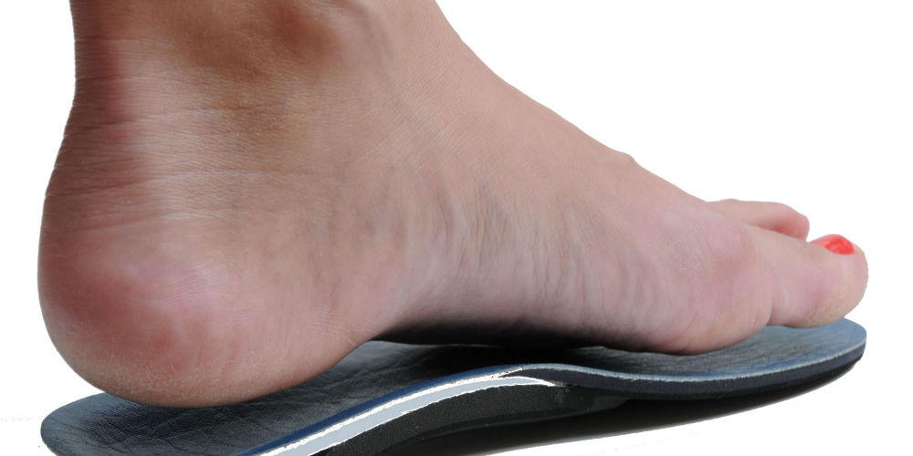 foot on orthotic insole